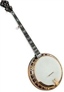 Gold Star GF-300FE Flathead Banjo - gold - Flying Eagle Inlays