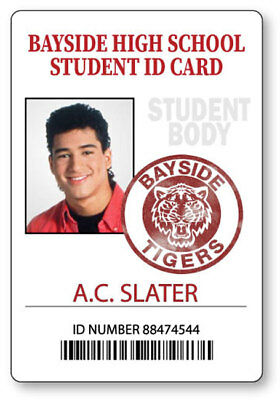 AC SLATER SAVED BY THE BELL BAYSIDE  NAME BADGE HALLOWEEN COSPLAY MAGNET - Saved By The Bell Halloween Costumes