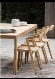 Outdoor Teak Dining Chairs x 4 / 8