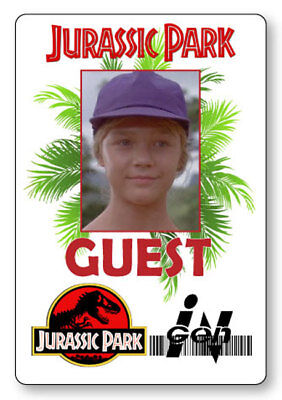 LEX GRANDDAUGHTER JURASSIC PARK NAME BADGE PROP HALLOWEEN COSPLAY PIN BACK - Jurassic Park Halloween Costumes