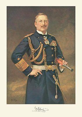 Kaiser Wilhelm II. Deutsches Kaiserreich Marine Uniform Fernglas Schnauzbart 4