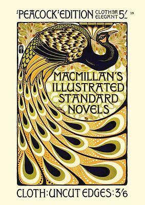 Peacok Pfau Plakat um 1902 von A. Turbayne Faksimile 101 auf Büttenpapier