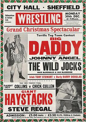 Big Daddy Wrestling Repro POSTER Sheffield