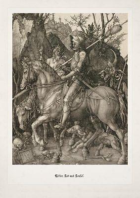 Albrecht Dürer Ritter Tod und Teufel Büttenfaksimile 12