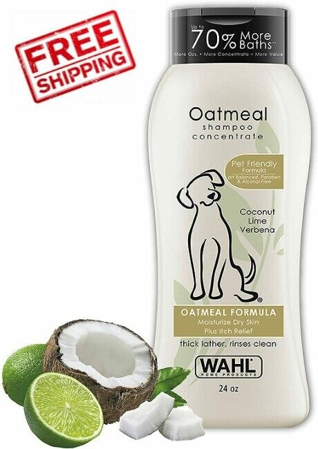 Dry Skin & Itch Relief Pet Shampoo for Dogs Oatmeal Formula