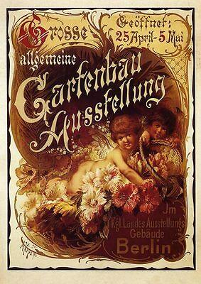Gartenbau Ausstellung Berlin Plakat 1890 von Alexander Kips Büttenfaksimile 113