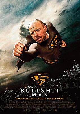 Karl Pilkington Bullshit Man Repro POSTER