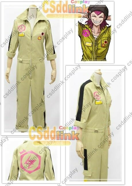 Danganronpa Kazuichi Souda Cosplay Costume bodysuit with headband