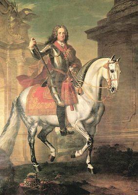 Lipizzaner Karl VI. Hofreitschule Pferde von George Hamilton K&K 33 Faksimile