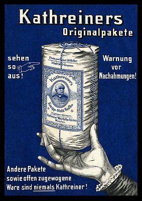 Kathreiners Kneipp Malzkaffe Plakat Faksimile auf Büttenpapier 81