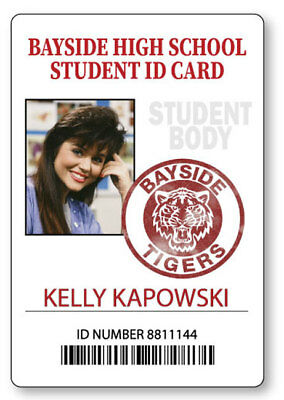 KELLY KAPOWSKI SAVED BY THE BELL  NAME BADGE HALLOWEEN COSPLAY MAGNET BACK