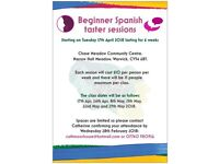 Spanish Taster Sessions for Beginners - Coming to Warwick!