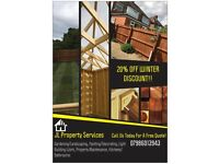 JL PROPERTY SERVICES. PAINTER. DECORATOR. BUILDER. GARDENER. MULTI TRADE. LANDSCAPING. DELIVERY