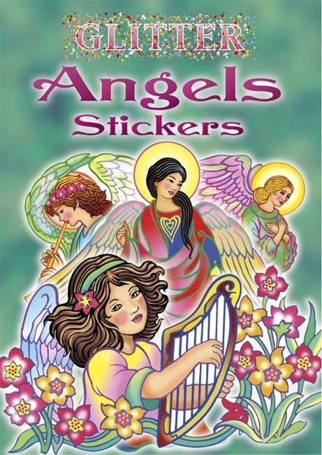 Glitter Angel Stickers Little Book Marty Noble