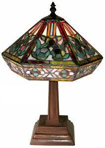 Warehouse Of Tiffany Style Mission Table Lamp 766+SB86