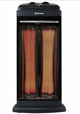 Room Heater Quartz Radiant Infrared Energy Efficient Quiet Indoor Heats Quickly