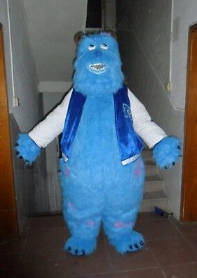 Monsters Inc Sulley Adult Costume (Adult Size Lovely Monsters Inc Sulley Mascot Costume Poly Foam Head Cosplay)