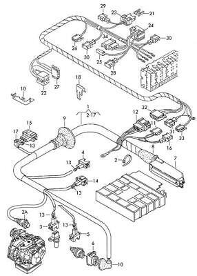 Genuine VW Adapter Cable Loom NOS VW Eurovan Transporter 701971774K