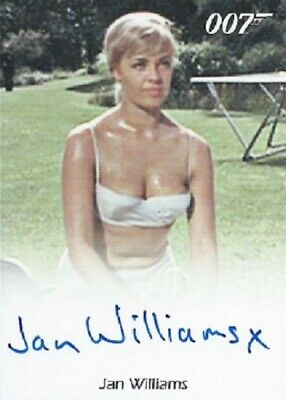 Jan Williams Autograph from James Bond 50th Anniversary Series 1