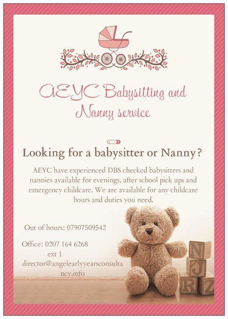 AEYC BABYSITTING AND NANNY SERVICE | in East London, London | Gumtree