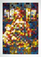Martin Schwarz (winterthur Suiza 1946) Serigrafía 2005 De 50x70 Firmada Y 20/140 -  - ebay.es
