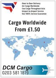 Door To DooAir Sea Cargo Pakistan India £5.00 Per Kg Parcel Excess Baggage Shipping Worldwide