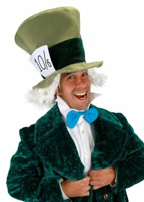 Alice In Wonderland Mad Hatter Animated Movie Version Hat Collar and Tie Kit NEW (Alice And Wonderland Hats)