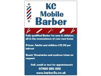 Mobile Barber covering postcodes CF38, CF15 and CF72.