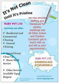 do you need good experience cleaner call ruby pvt ltd today