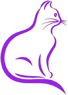30 Custom Modern Purple Cat Personalized Address Labels