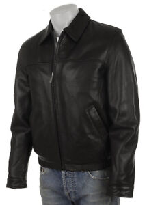 Kenneth Cole Reaction Men's Leather Bomber Jacket