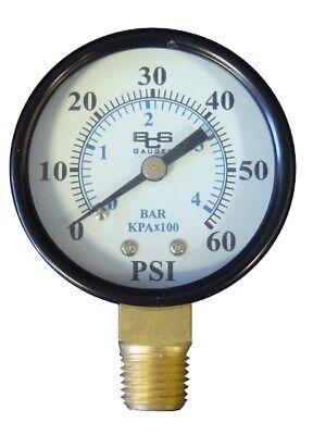 Pressure Gauge 0-60 Psi For Pentair And Hayward Pool Filters