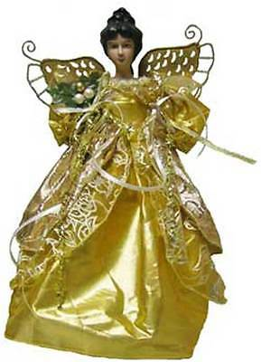 Unique Holiday African American Gold Angel Christmas Tree Topper [id14 385520c]