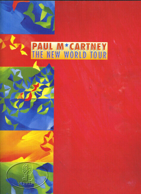 PAUL McCARTNEY 1993 NEW WORLD Tour Concert Program Tour Book Beatles