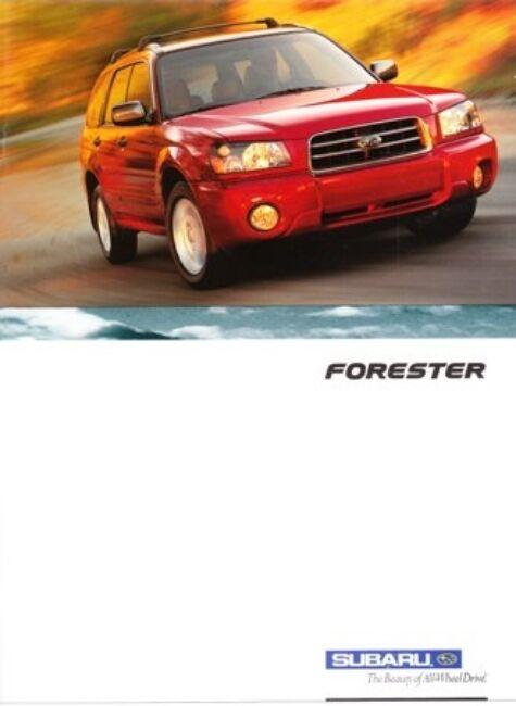 2003 03 Subaru Forester   original sales brochure MINT