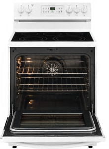 "Frigidaire 30"" White convection 5 element glass top stove"