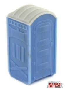2-x-Porta-Loos-Portable-Toilets-assembled-Blue-Grey-HO-1-87-scale-BLMA-4111