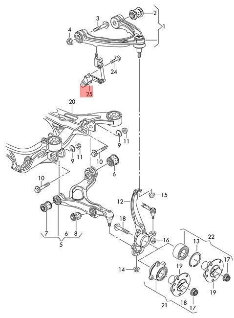 Genuine Pressure Sensor AUDI A3 S3 Sportback 8V0959109