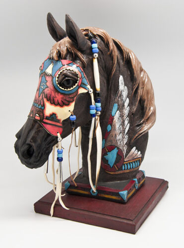 """13""""  Spirit Horse - Wolf Spirit - Statue"""