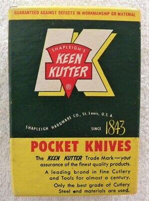 Vintage Keen Kutter Pocket Knives K-10 Store KK Empty Box Only, Nice