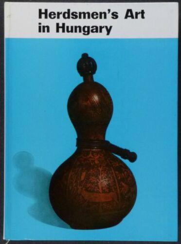 Antique Hungarian Herder Folk Art- Wood Horn Textile - Hungary Carving