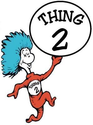 Thing 1 and 2  # 12 - 7.25 x 9.75 T-shirt iron-on transfer Thing 2 ONLY (large) - Thing 1 And Thing 2 Iron On