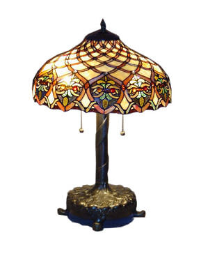 Tiffany Style Handcrafted Baroque Style Table Lamp 16
