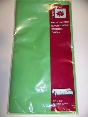 - Premier Stylz Plastic Tablecover Lime Green ,   54