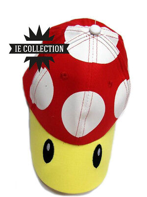 SUPER MARIO BROS. FUNGO CAPPELLO COSPLAY nuovo berretto Hat Cap cappellino toad ()