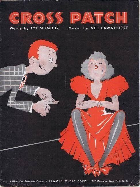 Cross Patch, 1936, Vintage Sheet Music