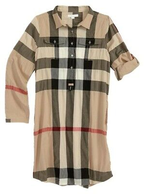 Burberry  Plaid Kids Short Casual Dress Size: US 5Y