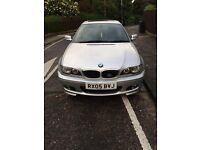 2005 low milage 330 msport coupe deisel in silver with full black leather interier