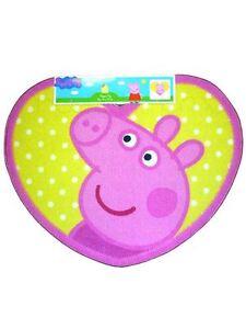 Peppa-Pig-Forma-Alfombra-Amarillo-Rosa-100-Oficial-Dormitorio-nina