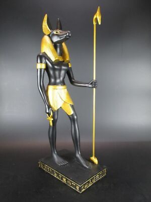 Anubis God of the Dead, 41 cm Polyresin Figurine,Museum Collection,New
